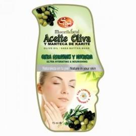 Mascarilla Facial - Aceite Oliva y Manteca Karite - S&S - 15 ml