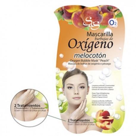 Mascarilla Facial  - Burbujas Oxigeno-Melocotón - S&S
