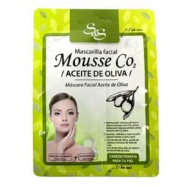 Mascarilla Facial - Mousse CO2 - Aceite de Oliva - S&S