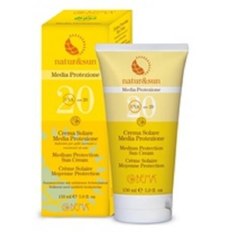 Crema Solar Media Protección SPF20 - Natur&Sun - 150ml