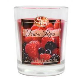 Vela Vaso Frutos Rojos - SyS - 6,5x7,5 cm